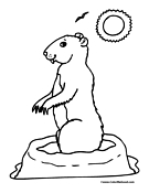 gopher coloring page prairie dog ghd groundhog coloring pages