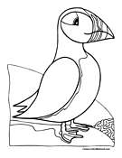 Puffin coloring pages for Puffin coloring pages to print