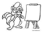 Raccoon Coloring Page 3