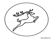 Reindeer coloring pages for Flying reindeer coloring pages