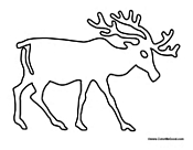 Reindeer Outline