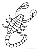 Scorpion Coloring Page 2