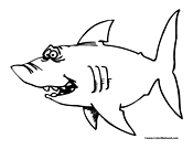Shark Coloring Page 1