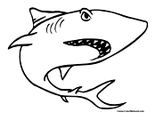 Shark Coloring Page 2