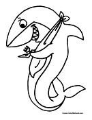 Shark Coloring Page 3