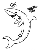 Shark Coloring Page 4