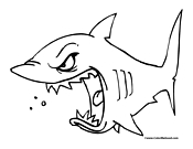 Shark Coloring Page 11
