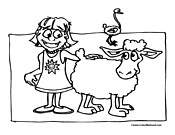 Sheep Coloring Page 4