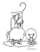 Sheep Coloring Page 5