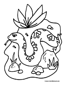Snake Coloring Page 2