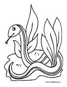 Snake Coloring Page 3
