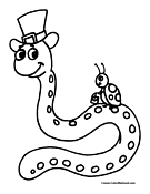 Snake Coloring Page 9