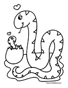 Snake Coloring Page 10