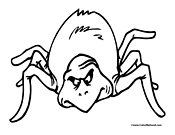 Spider Coloring Page 4