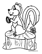 Squirrel Coloring Page 3