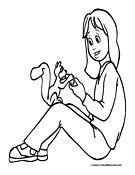 Squirrel Coloring Page 4