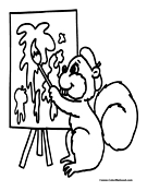 Squirrel Coloring Page 9