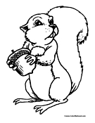 Squirrel Coloring Page 10