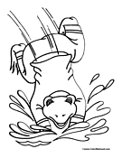 Toad Coloring Page 1