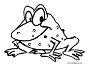 Toad Coloring Page 2