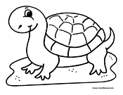 Turtle Coloring Page 1