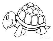 Turtle Coloring Page 5