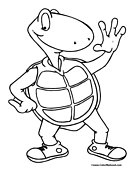 Turtle Coloring Page 9