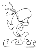 Whale Coloring Page 5