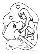 Whale Coloring Page 7