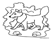 Wolf Coloring Page 1
