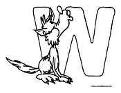 Wolf Coloring Page 2