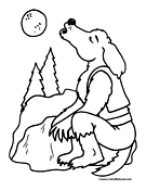 Wolf Coloring Page 3