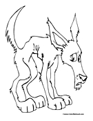 Wolf Coloring Page 4