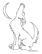 Wolf Coloring Page 5