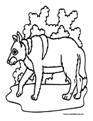 Wolf Coloring Page 7