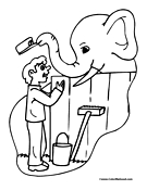 zookeeper coloring pages - photo#14