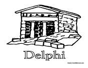 Delphi Ancient Building