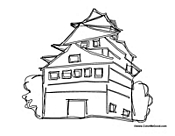 Asian House Sketch