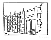 Stunning Apartment Building Coloring Pages Pictures - Coloring 2018 ...