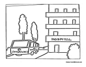 coloring pages hospital themed - photo#40