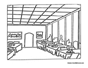 at restaurant coloring pages - photo#8