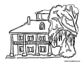 House with Willow Tree