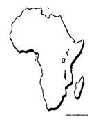 Maps of Africa Coloring Pages