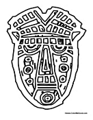 African Mask Coloring Pages African Masks