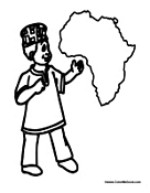 African Kid with Map