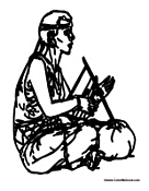 People of Africa Coloring Pages