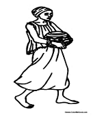 African Woman Carrying Bowl
