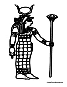 Egyptian Woman with Staff