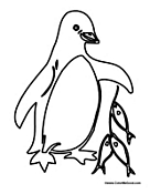 Penguin with Fish