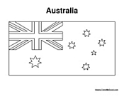 australian flag coloring page - australia coloring pages